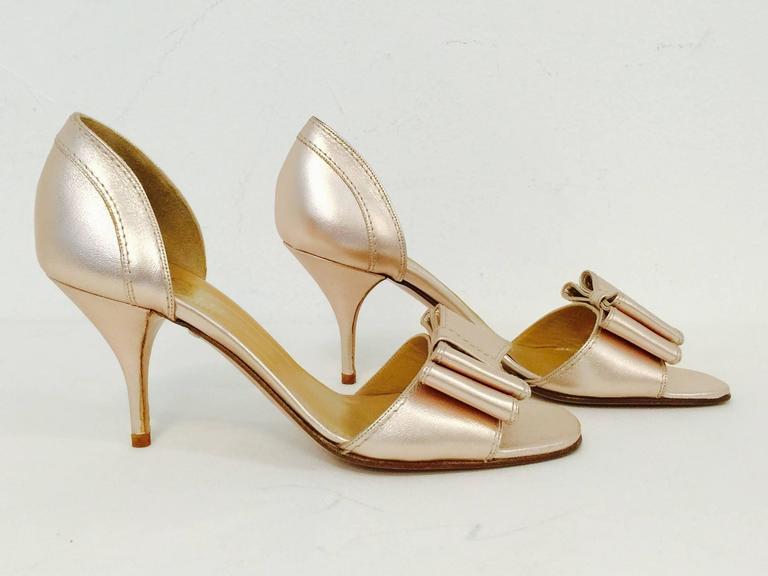 3c196b4e7f8e Valentino Garavani Rose Gold Metallic Leather High Heel Sandals For Sale. Valentino  Garavani High Heels are pure Valentino...feminine