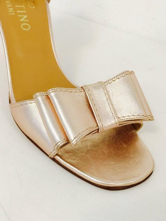 e13e84e19855 Women s Valentino Garavani Rose Gold Metallic Leather High Heel Sandals For  Sale