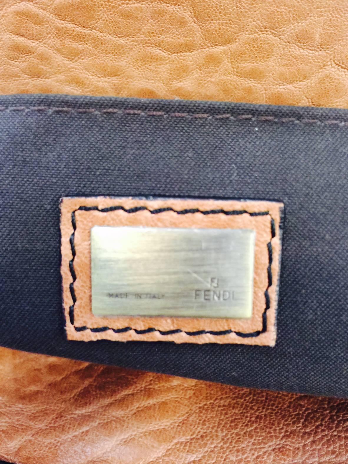 bc0186adb22e Fendi Tan Nappa Vernice Black Patent Leather B Bag Excellent Condition! For  Sale at 1stdibs