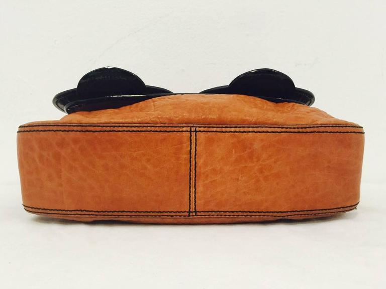 e8a72ee6e45d Fendi Tan Nappa Vernice Black Patent Leather B Bag Excellent Condition! For  Sale 3