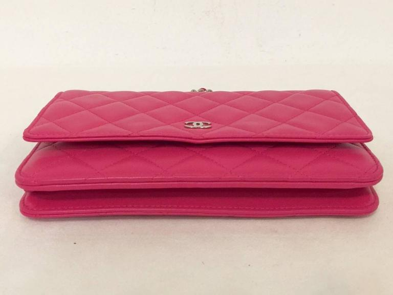 Chanel Dark Pink Quilted Lambskin O Mini Bag Serial