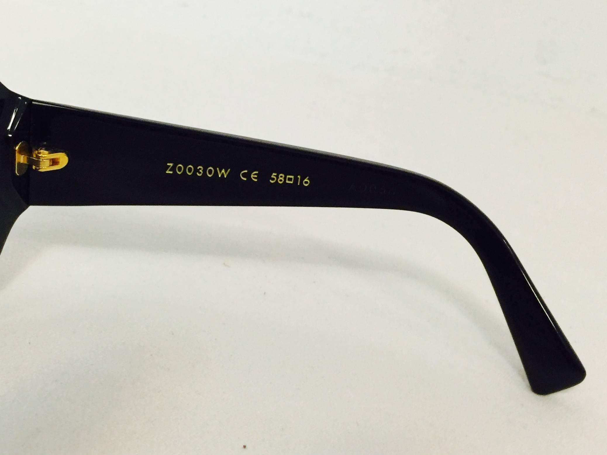 3253d63b417c4 Louis Vuitton Black Glitter Obsession Sunglasses GM at 1stdibs