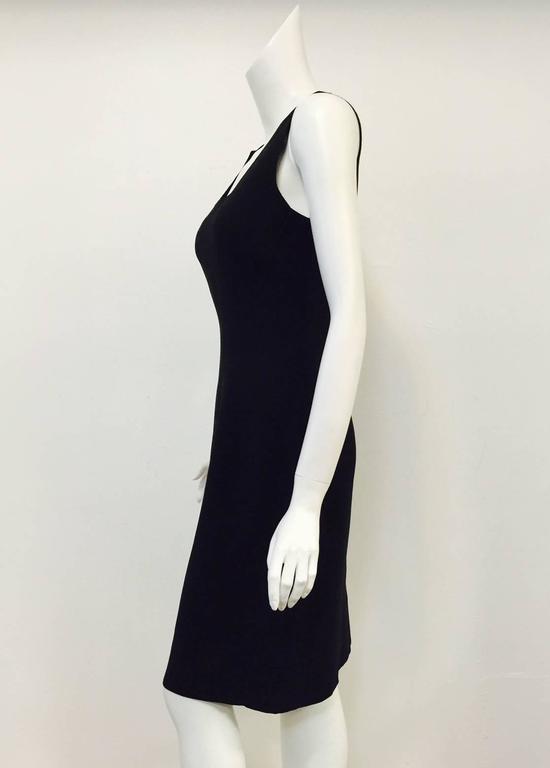 Women's Classic Chado Ralph Rucci Sleeveless Sculpted Black Wool Sheath Dress For Sale