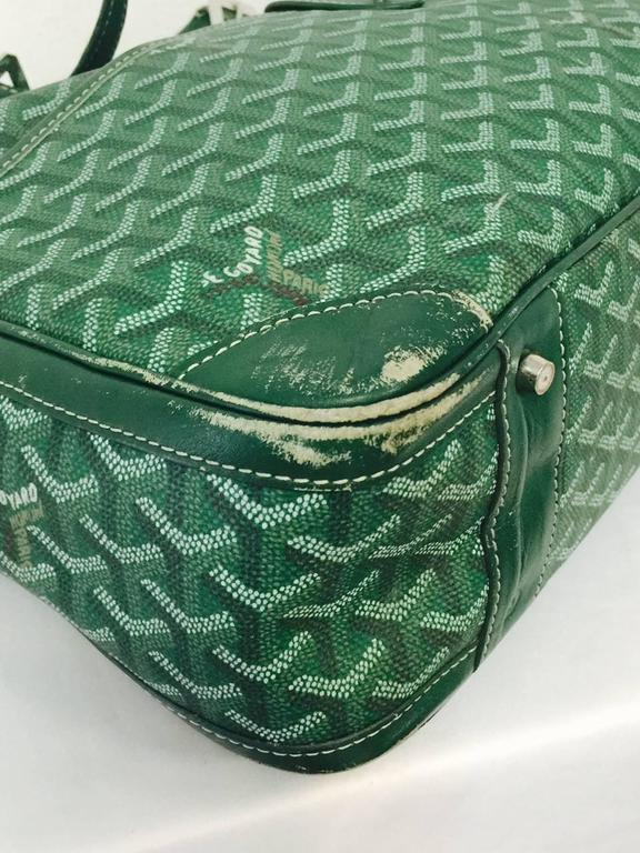 Goyard Green Goyardine Ambassade Briefcase At 1stdibs