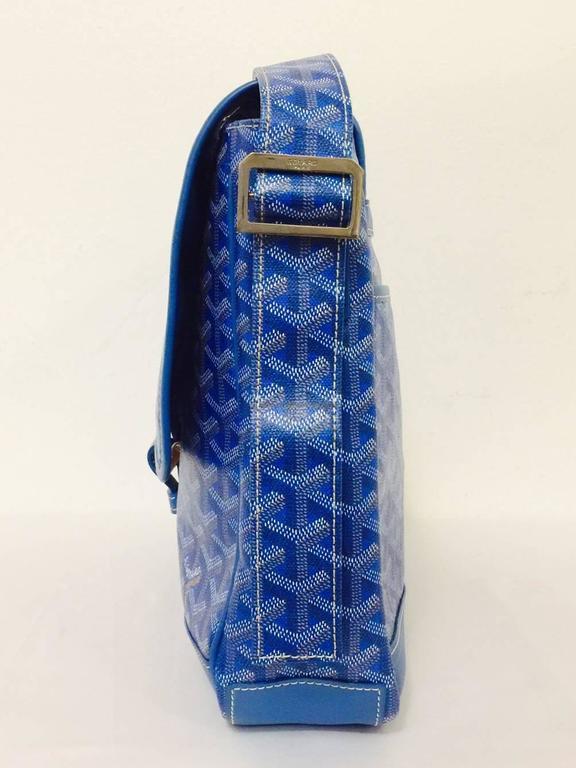 Goyard Blue Goyardine Urbain Messenger Cross Body Shoulder Bag 1
