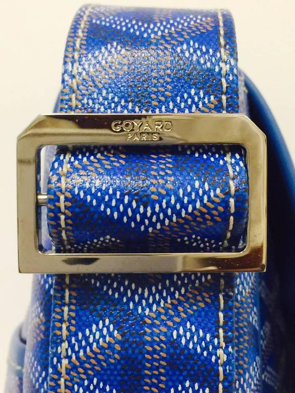 Goyard Blue Goyardine Urbain Messenger Cross Body Shoulder Bag 3