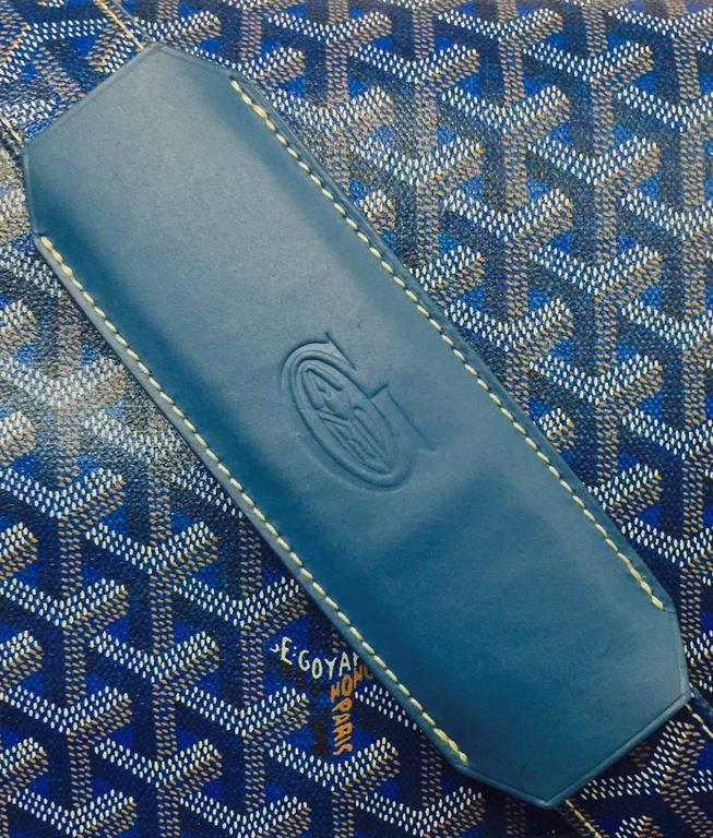 Goyard Blue Goyardine Urbain Messenger Cross Body Shoulder Bag 2