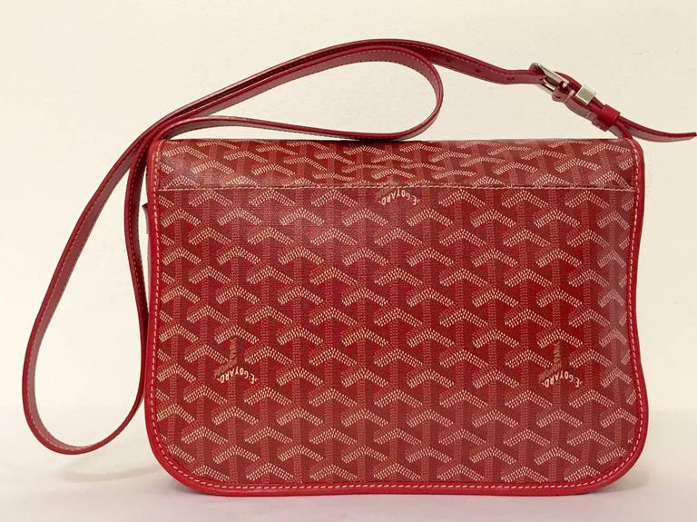 Brown Goyard Red Goyardine Canvas Belevedere Crossbody Bag Mm For