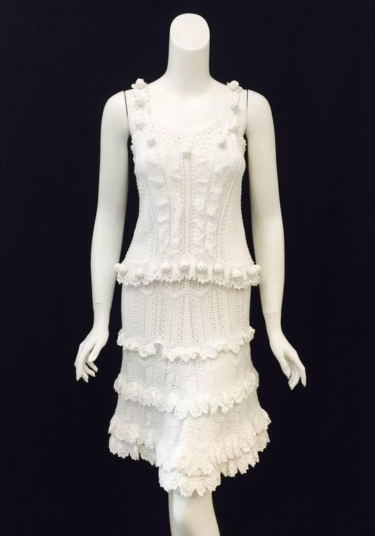 Oscar de la Renta Ensemble is worthy of the Romanovs!  Made in Russia, this two-piece crochet camisole and skirt ensemble is feminine to a fault and celebrates