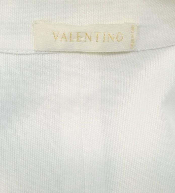 Very Valentino Ivory Blouse With Voluminous Poet Sleeves and Ruffled Bodice 8