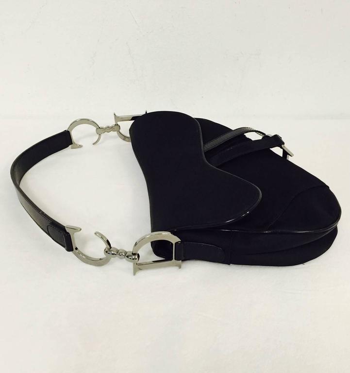 f4e5a186c993 Christian Dior Black Patent and Nylon Saddle Bag For Sale at 1stdibs