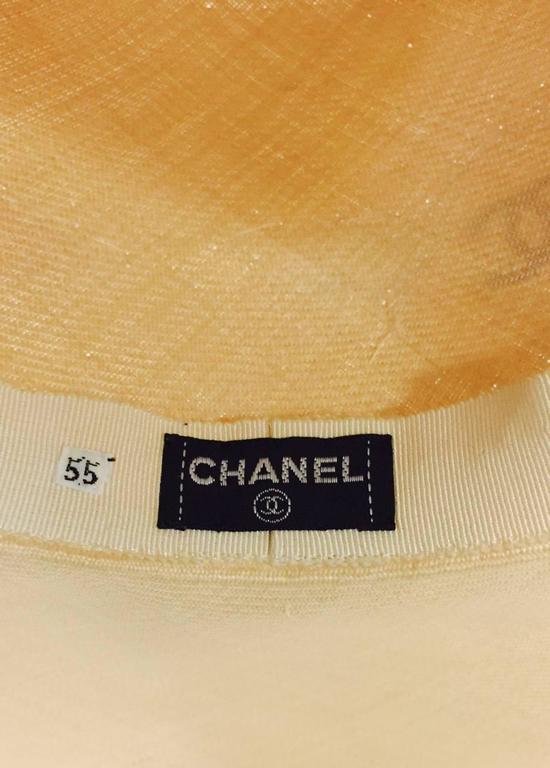 Rare Chanel Wide Brim Camellia Hat 6