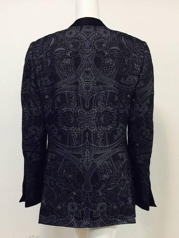 Men S Gucci Silk Paisley Print Smoking Jacket Shawl