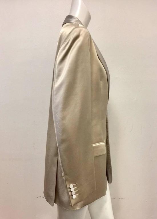 Men's Versace Champagne Cotton Wool & Silk Blend Dinner Jacket w Shawl Collar  For Sale 1