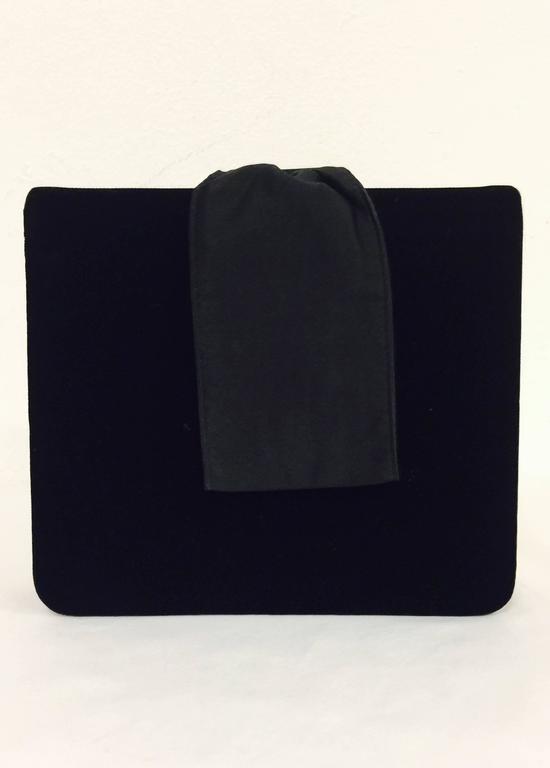 1stdibs Paloma Piccaso Black Calfskin With Gold Hardware Clutch & Shoulder Bag tiKNqat2D