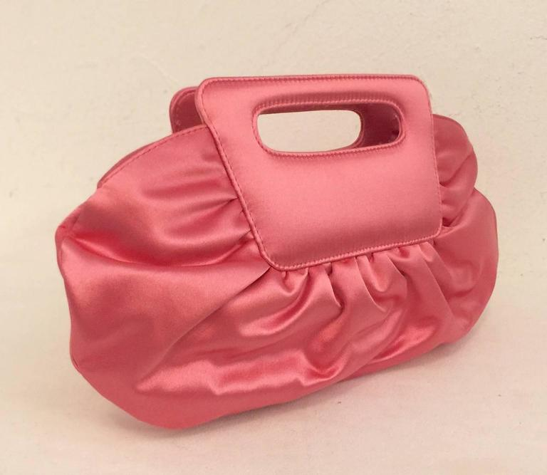 011ef8b601f Christian Louboutin Lipstick Pink Satin Gathered Evening Bag