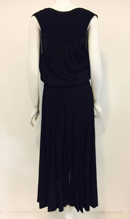Chanel Black Viscose Stretch Dress With Surplice Front and Full Longer Skirt  6