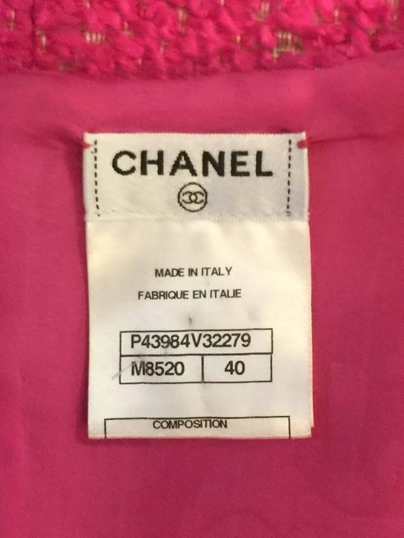 Chanel Hot Pink Boucle Sleeveless Top  5
