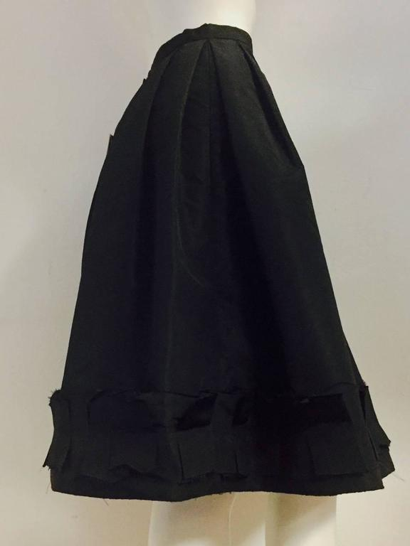 Oscar de la Renta Silk Blend Taffeta Full Skirt With Folded and Pleated Hem 2