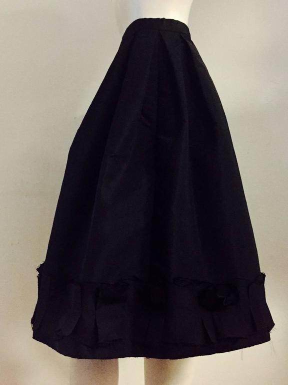 Oscar de la Renta Silk Blend Taffeta Full Skirt With Folded and Pleated Hem 4