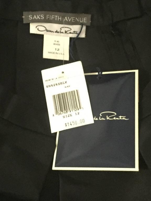 Oscar de la Renta Silk Blend Taffeta Full Skirt With Folded and Pleated Hem 6