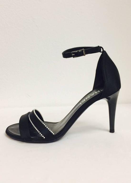 097afae96b47 Chanel Strappy High Heel Sandals are perfect for  quot Dinner and  Dancing quot ! Features