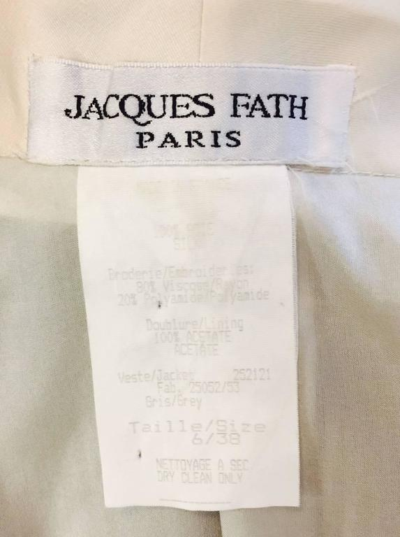 Vintage Jacques Fath Fitted Silk Evening Coat Dress With Lace Overlay 10