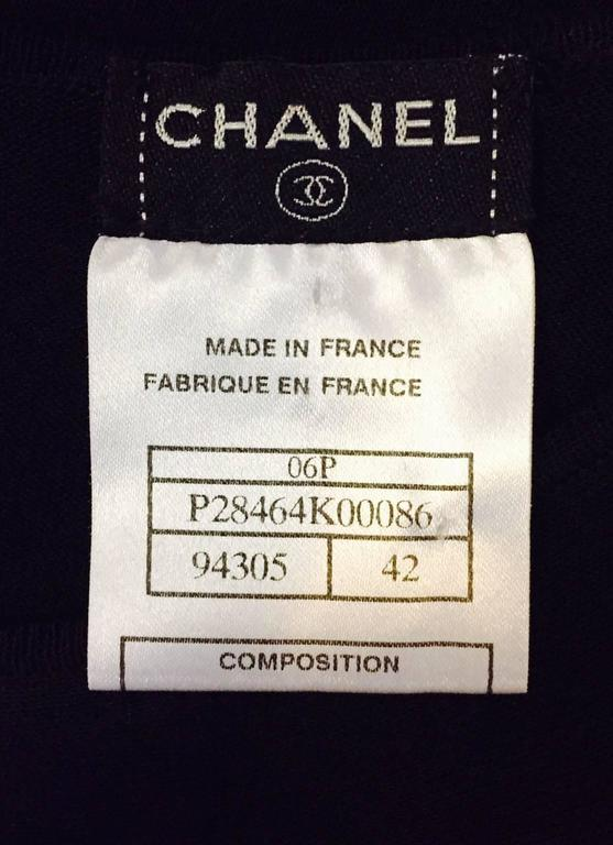 Chanel 2006 Black Sleeveless A-Line Top W Bateau Neckline and Sheer Panels 7