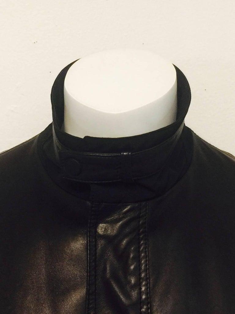 Men S Z Zegna Soft Lambskin Leather Jacket In Black Sz Xl For Sale