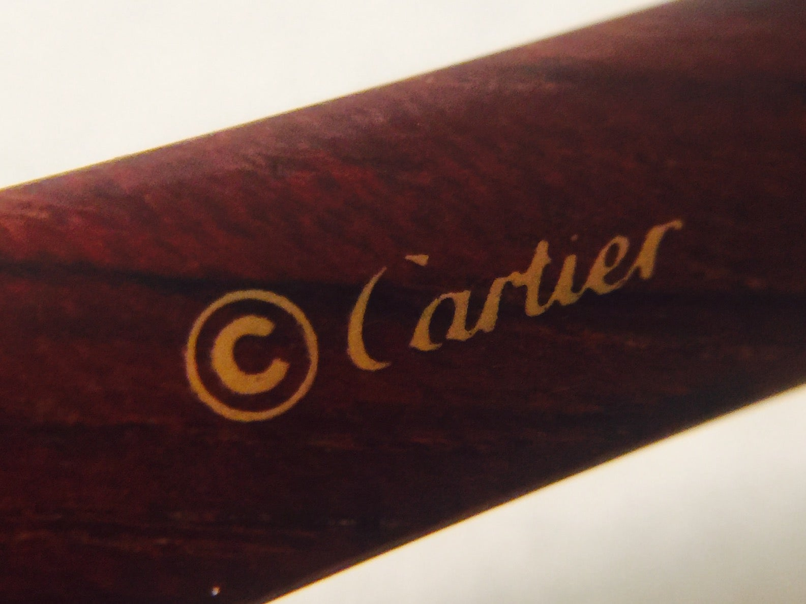 a349a07a29 Coveted and Current Cartier Vintage Monceau Sunglasses 18K Gold and Wood  For Sale at 1stdibs