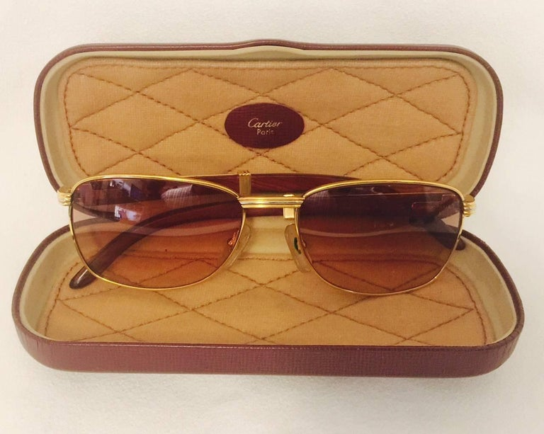 24a17c898d Coveted and Current Cartier Vintage Monceau Sunglasses 18K Gold and ...