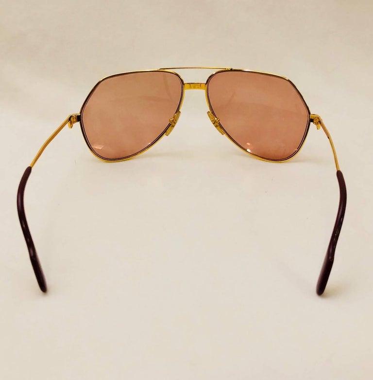 53962862dc1 Cartier Vendome Santos Vintage Satin Sunglasses 62 14 For Sale at ...