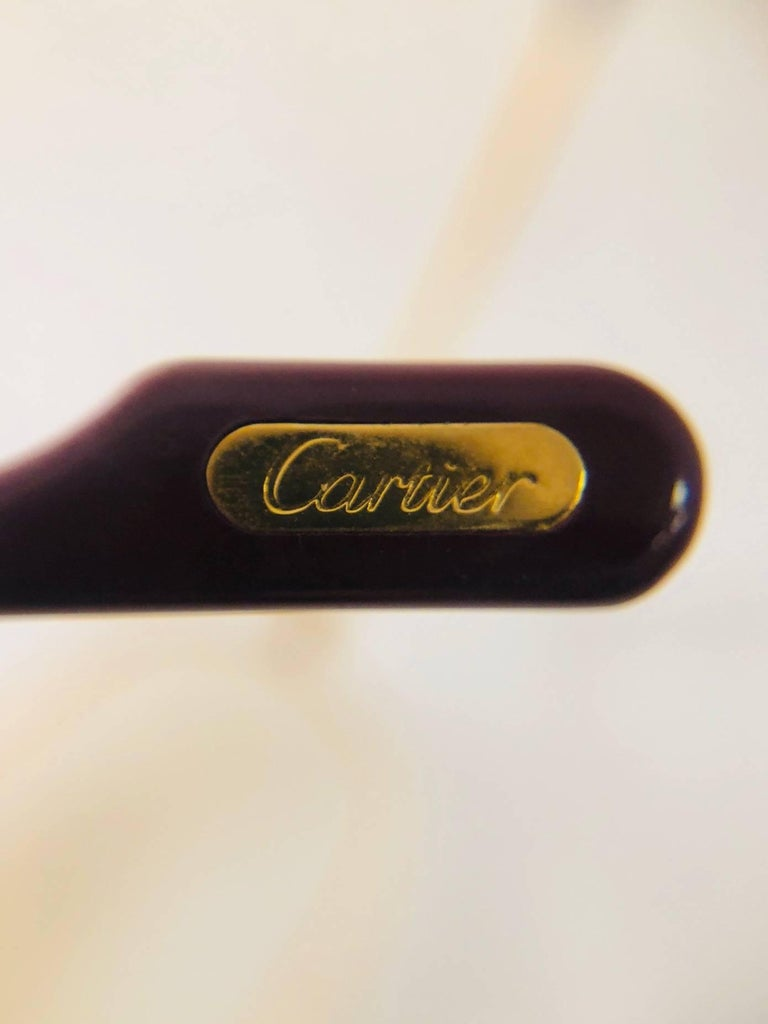Cartier Vintage Vendome Glasses 59 14, 1980s  For Sale 1