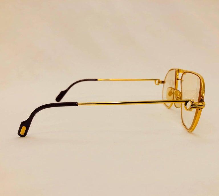 Women's or Men's Cartier Vintage Vendome Glasses 59 14, 1980s  For Sale