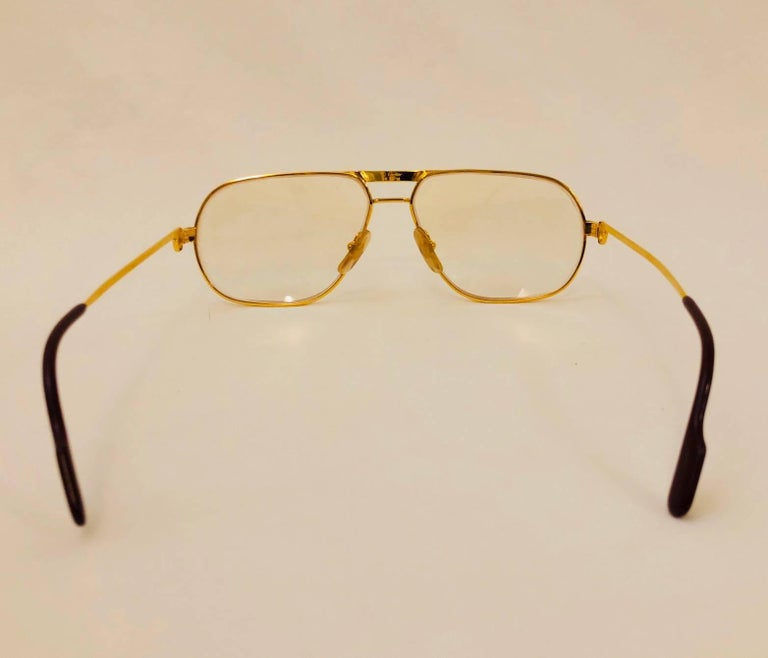 Cartier Vintage Vendome Glasses 59 14, 1980s  In Good Condition For Sale In Palm Beach, FL