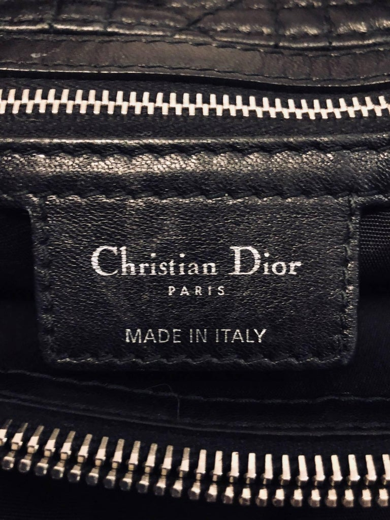 ad97e6731c3b Christian Dior Black Cannage Quilted Lambskin Soft Shopping Tote Large For  Sale 1