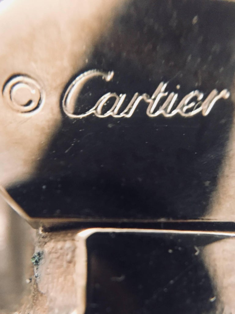 Cartier Silver Tone Panther Head Black/Brown Belt For Sale 2
