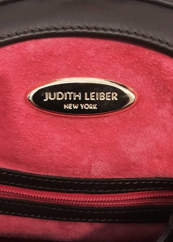 Judith Leiber Gathered Python Frame Hand Bag With Swarovski Crystal Feet For Sale 5