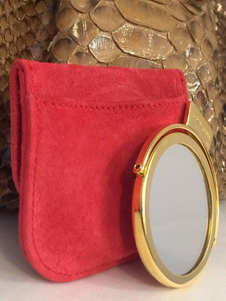Judith Leiber Gathered Python Frame Hand Bag With Swarovski Crystal Feet For Sale 4