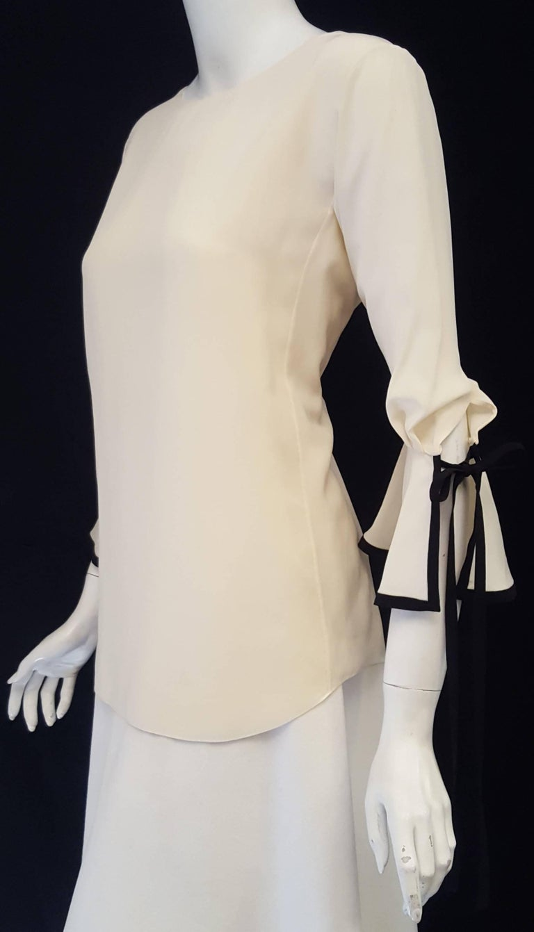 Chloé Silk Blouse with Rivet and Suede Detail at 1stdibs
