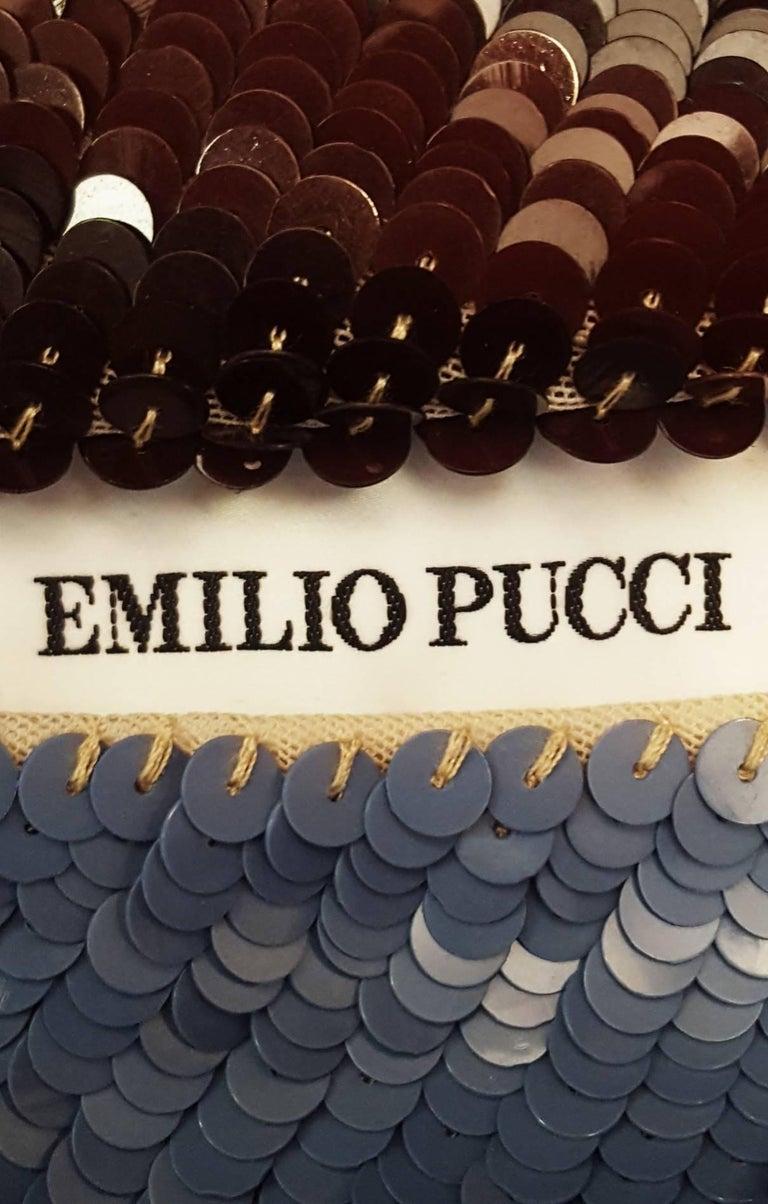 Women's Emilio Pucci Sequined Geometric Print Dress  For Sale