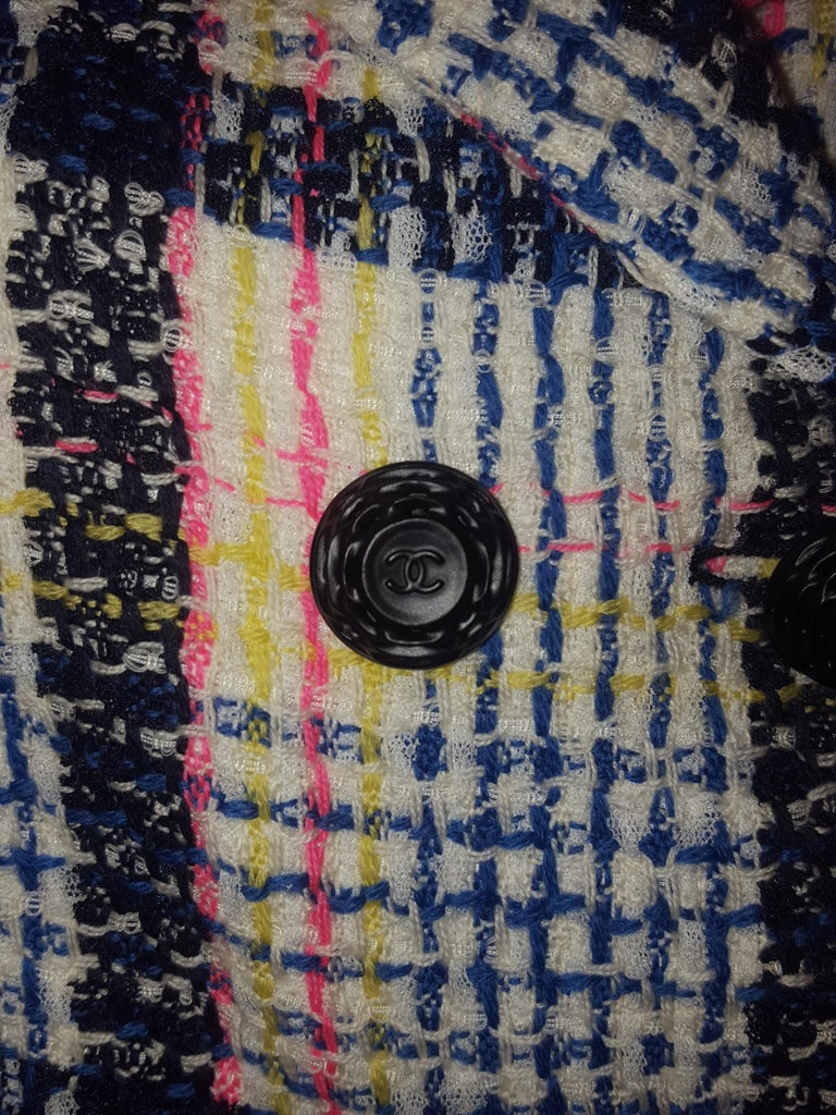 Chanel White & Multicolor Tweed Skirt Suit Defines Chanel's Fashion House For Sale 1