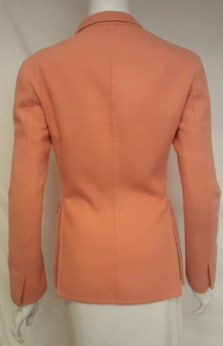 Orange Jil Sander Pink Salmon Cashmere Jacket  For Sale