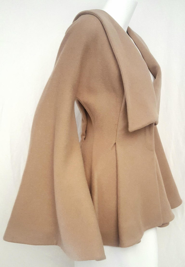 Alexander McQueen Camel Hair Tailored Jacket In Excellent Condition For Sale In Palm Beach, FL