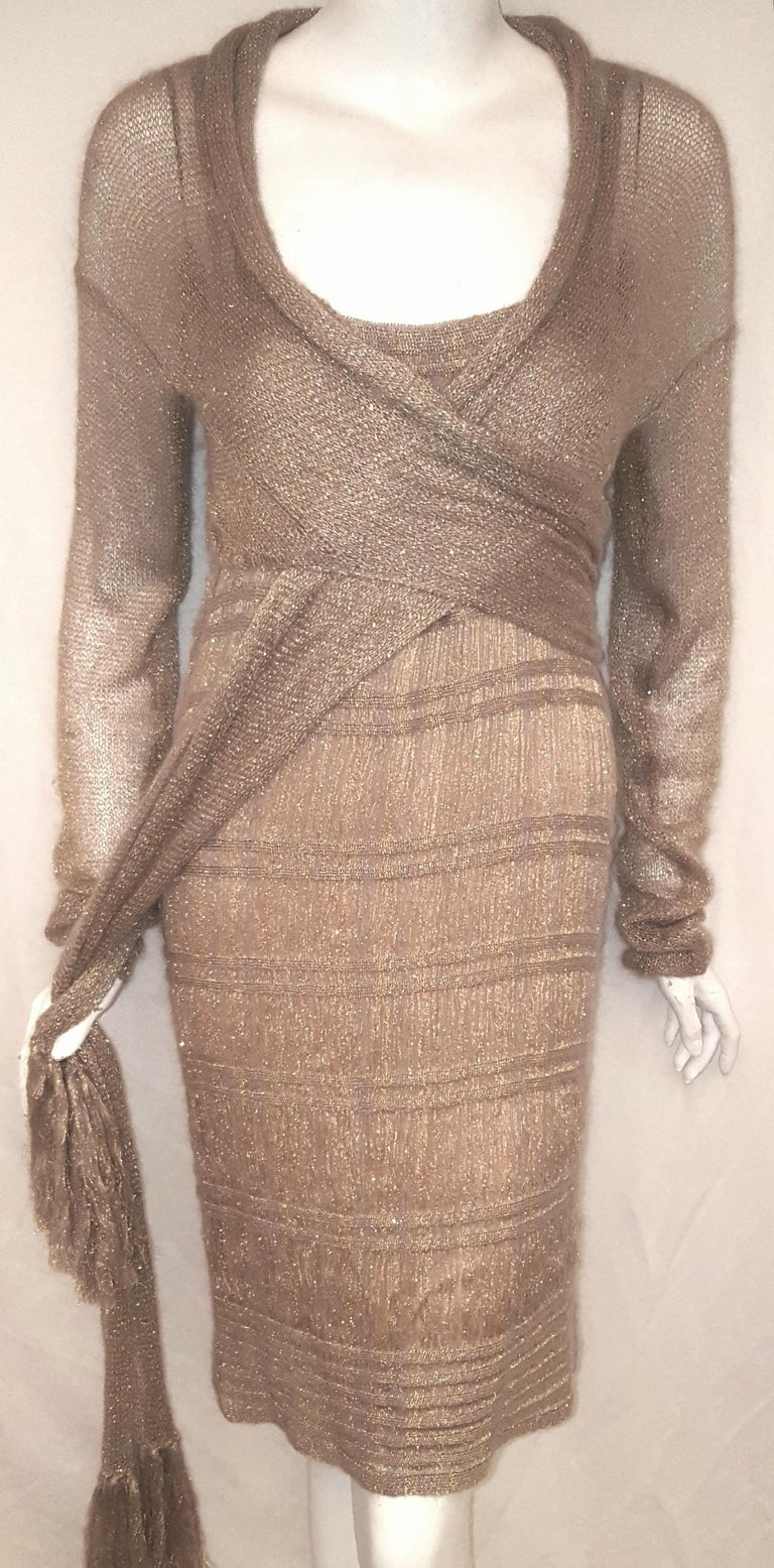 Women's Missoni Gold Tone Thread 3 Piece Multi Layered Knit Ensemble  For Sale