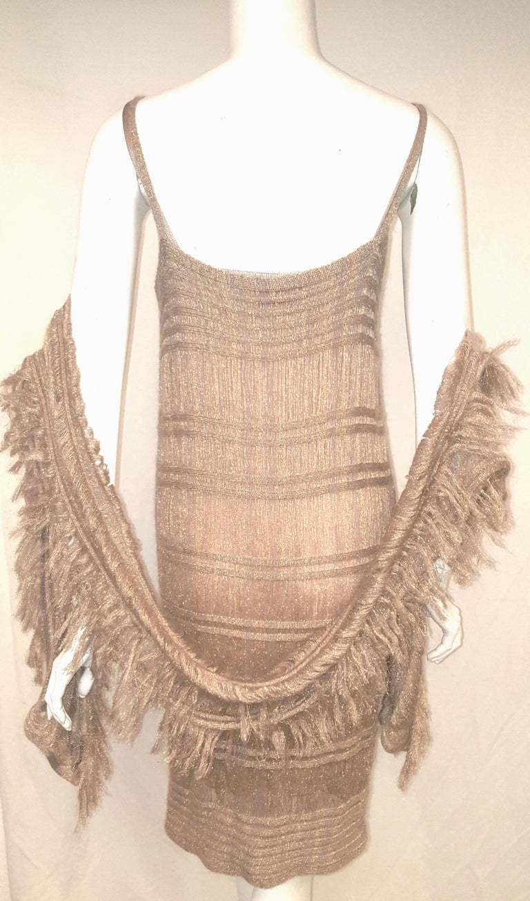 Missoni Gold Tone Thread 3 Piece Multi Layered Knit Ensemble  For Sale 2