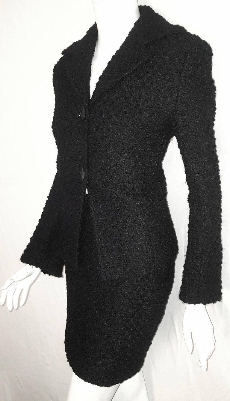 Women's Dolce & Gabbana Black Tweed Skirt Suit  For Sale