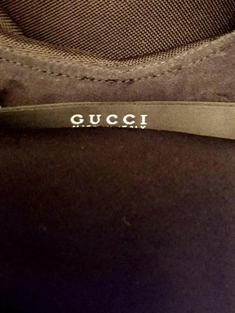 Women's   Gucci Ruffle & Backless Dress 44 EU For Sale