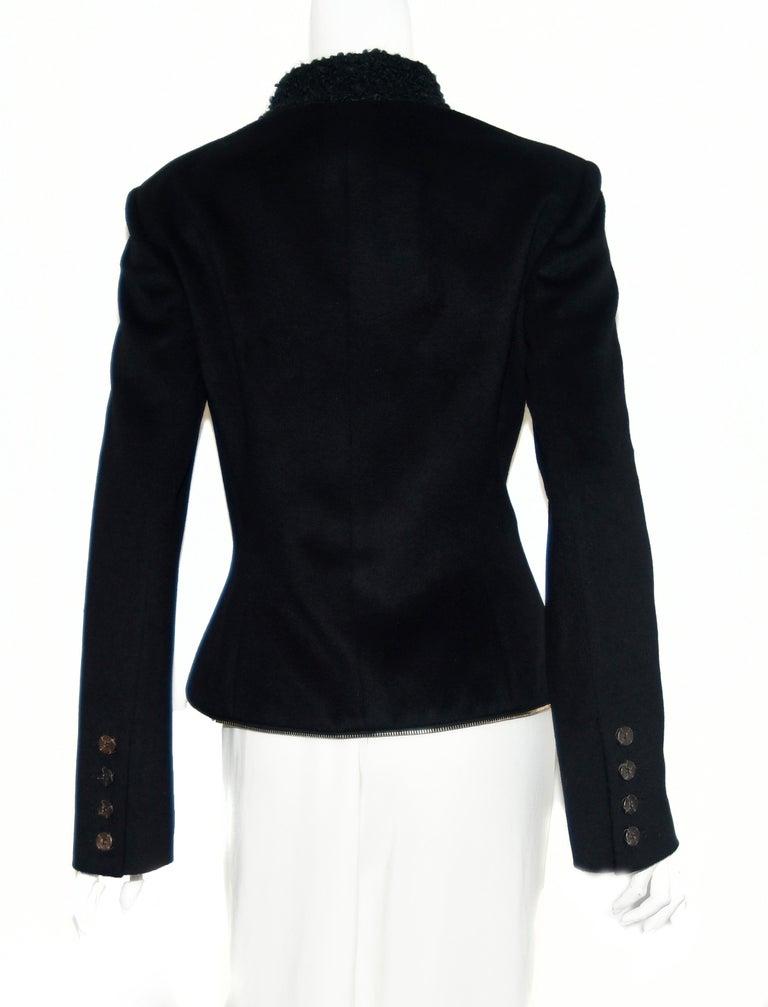 Alexander McQueen Black Adaptable Wool & Cashmere Coat For Sale 7