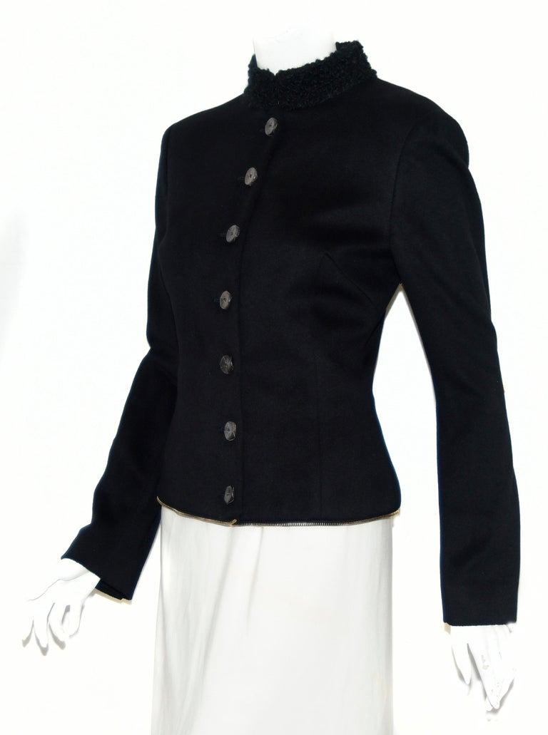 Alexander McQueen Black Adaptable Wool & Cashmere Coat For Sale 6